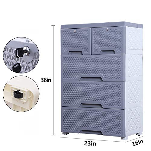 Movable Storage Cabinet,Multipurpose Furniture Organizer,Nafenai Home Bedroom Office 4-layers Storage Cart with 2 Cabinets ,Durable and Environmental-friendly by Nafenai (Image #1)