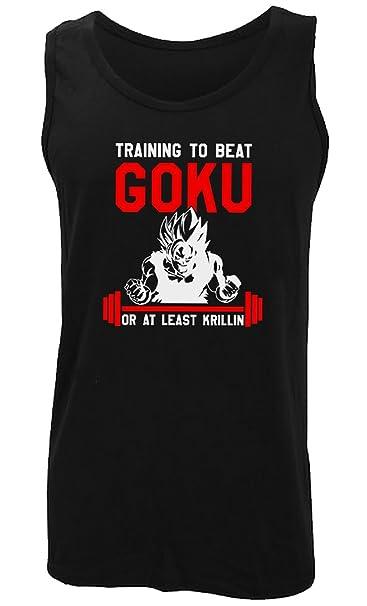 Training To Beat Goku Athletic Vest (Black)