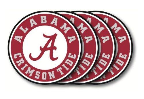 NCAA Alabama Crimson Tide Vinyl Coaster Set (Pack of 4) ()