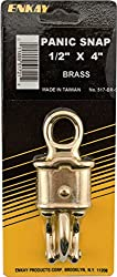 Enkay 517-br-c Panic Snap, Brass, Carded