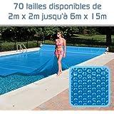 Linxor France ® Bâche à bulles sur mesure 300 microns / 70 tailles disponibles / Norme CE