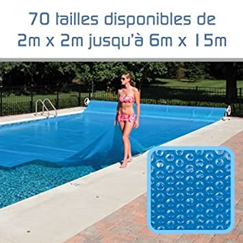 Linxor ® Pool Solarfolie Solarabdeckplane Poolheizung 300 μm Zugeschnittene / 70 verfügbare Größen / EG-Norm EGK
