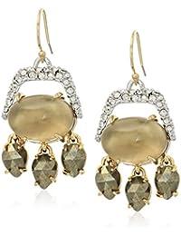 Fall 2017 Swinging Multi-Stone Chandelier Wire Drop Earrings