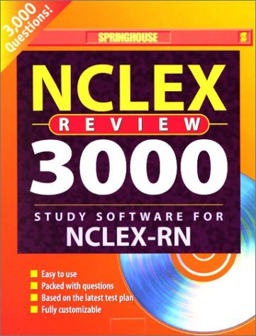 (NCLEX Review 3000: Study Software for NCLEX-RN (User's Manual with CD-ROM for Windows and Macintosh) by Springhouse (2000-12-15) CD-ROM)