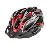 BIKMAN Outdoor Sport Bicycle Road Mountain Bike Safety Helmet Big Size Cycling Riding Racing Unibody Imitate Carbon Fiber Helmet (red)