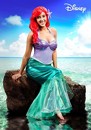 Little Mermaid Ariel Deluxe Womens Costume Large Green ()