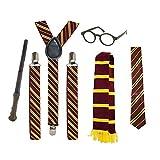 School Fancy Dress Costume Accessories (Glasses, Tie, Scarf, Braces & Wand)