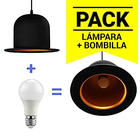 Barcelona LED LV201-K Pack Lámpara Bombín / Sombrero Inglés + Bombilla LED A60 10W