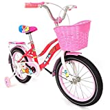 BIKETEK Bicicleta para niña Estilo clásico rodada 16 Color Rosa