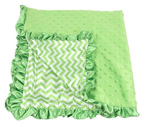 Girls Unisex Green Chevron Blanket product image