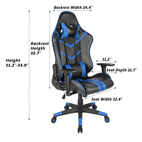 Killabee Racing Style Gaming Chair Big Amp Tall 400lb