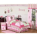 Amazon.com: Pink and Green Olivia Girls Kids & Teen Bedding 4pc Twin Set: Home & Kitchen