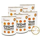 Smartbuy 500-disc 4.7gb/120min 16x DVD+R Logo Top Blank Data Recordable Media Disc