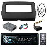 Audio Bundle For 2014 -Up Harley - Pioneer DEH-X4800BT Marine Bluetooth Radio USB AUX CD Receiver Bundle Combo With Dash Installation Kit and Handle Bar Controller for Motorcycle, Enrock Radio Antenna