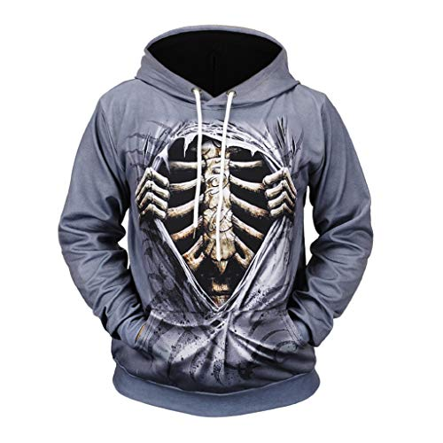 iHHAPY Hoodie Unisex Hoodie Mens 3D Print Sweatshirt Ladies Mens Long Sleeve Pullover Hooded for 2019 Halloween Winter