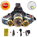 Super Bright 10000 Lumens Led Headlamp Flashlight,Super Bright Headlight ,Waterproof Hard Hat Light,