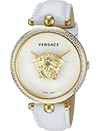 Women s  Palazzo Empire  Swiss Quartz Gold and Leather Casual Watch,  Color White · Versace 3c2d4244b3d