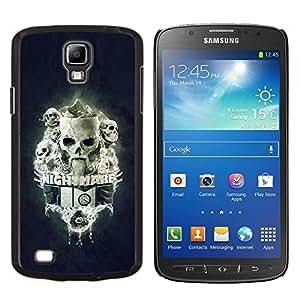 LECELL--Funda protectora / Cubierta / Piel For Samsung Galaxy S4 Active i9295 -- Pesadilla Tiempo Skulls --