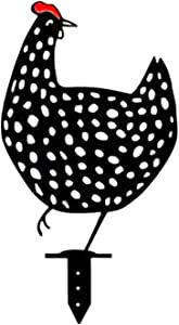 Chicken Yard Art Garden Statue Decor, Lifelike Hen Decoration Ornament Hollow Out Animal Shape Decor, Garden Lawn Floor Decoration Ornament Hollow Out Animal Shape Decor (C Style)