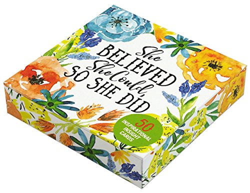 (She Believed She Could, So She Did Insight Cards (Deck of 50 Empowering Inspirational Cards))