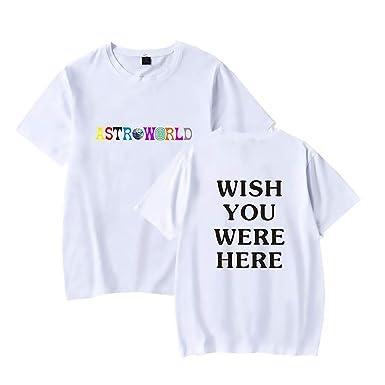 061a3d806c66 Travis Scott Astroworld Wish You were HERE Shirt Men and Woman Fashion  Shirts 3XL White
