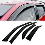 for Nissan Livina L10 L11 2007-2010 4PCS Smoke Deflector Sun Rain Visor Guard Wind Deflectors Car Styling Front Rear Shade Vent Window