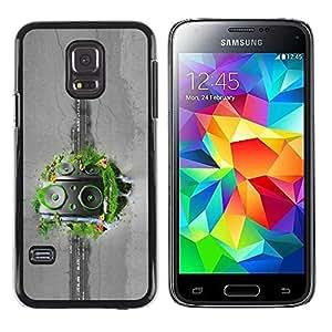 LASTONE PHONE CASE / Carcasa Funda Prima Delgada SLIM Casa Carcasa Funda Case Bandera Cover Armor Shell para Samsung Galaxy S5 Mini, SM-G800, NOT S5 REGULAR! / Abstract Grass Speakers