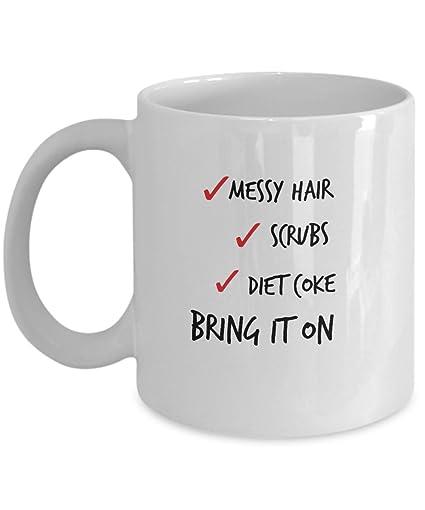 amazon com messy hair diet coke mug best gift for nurses