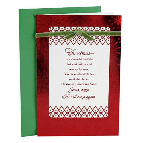 Hallmark Dayspring Religious Christmas Greeting Card (Jesus Will Come Again) -