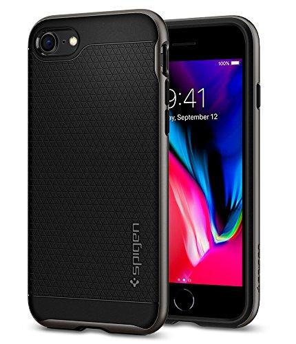 Funda iPhone 7, Funda iPhone 8, Spigen® [Neo Hybrid 2ª generación] Protección interna flexible y cuadro de parachoques duro reforzado para iPhone 7 2016 [Gunmetal] Gunmetal