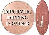 SHEBA NAILS Dipcrylic Dip Dipping Powder Heavy Metal ROSE GOLD - 1oz Jar