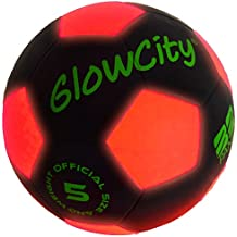 GlowCity Light Up LED Soccer Ball Black Limited Edition