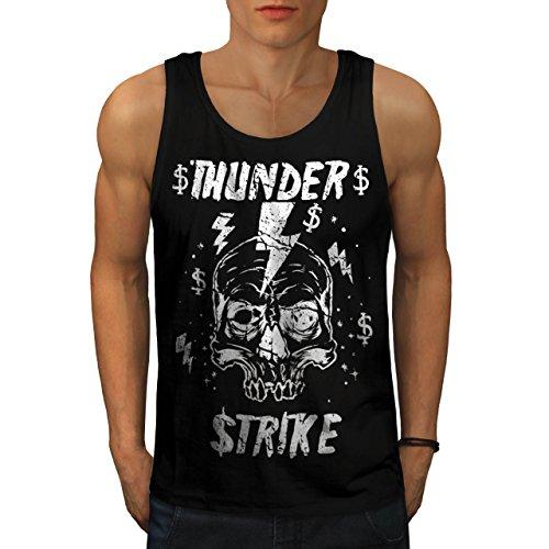 [Skull Thunder Strike Lightning Men NEW XXL Tank Top | Wellcoda] (Thunder Lightning Costume)
