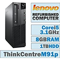 Lenovo ThinkCentre M91p SFF/Core i5-2400 Quad @ 3.1 GHz/8GB DDR3/1TB HDD/DVD-RW/WINDOWS 10 PRO 64 BIT