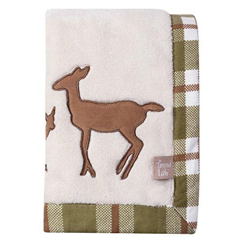Trend Lab Deer Lodge Framed Coral Fleece Baby Blanket, ()