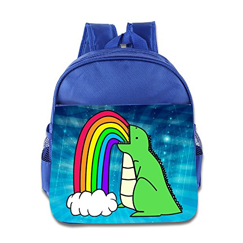 Logon 8 Rainbow Dinosaur Cartoon Cute School Bags RoyalBlue For 3-6 Years Olds Kid (Kids Plush Dinosaur Wings Costume)