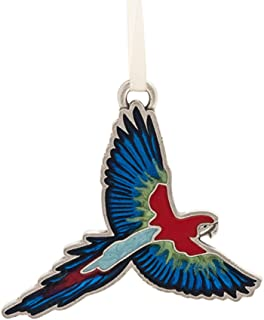 product image for DANFORTH - Macaw Ornament - Pewter - Handcrafted - Satin Ribbon - Made in USA