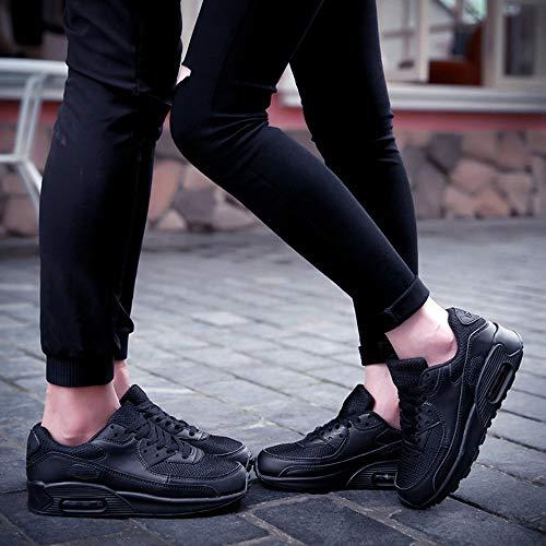de Ocasionale Deporte Zapatos Negro para Informales Casuales Aire Zapatillas Estudiante de Zapatillas de Lunaanco Pareja Zapatos Viaje Zapatillas Rgq11