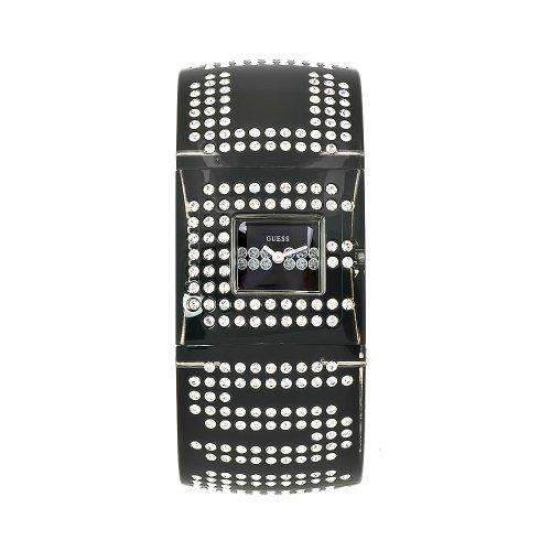 GUESS Women's W17518L1 Trend Black Resin Bangle Black Dial Watch