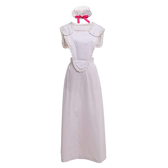 Vintage Aprons, Retro Aprons, Old Fashioned Aprons & Patterns GRACEART Victorian Pinafore Colonial Apron with Mob Cap 100% Cotton (4 Styles Option) $39.99 AT vintagedancer.com