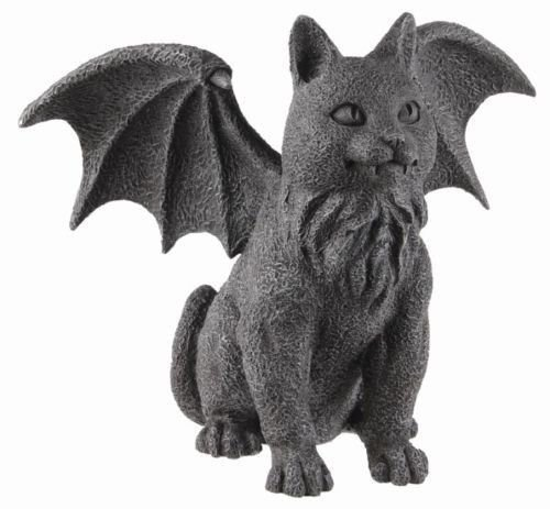 Winged Cat Gargoyle Statue Sculpture – Purr-fect Gift