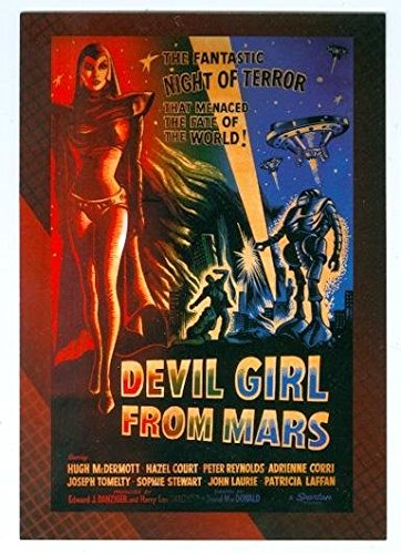 - Devil Girl From Mars trading post card Movie Poster Collection 2007 Breygent #14 3x5 1954 Hazel Court