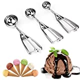 Best Cookie Scoops - 3PCS Cookie Scoop Set,Kitchen Scoop Melon Baller Scoop Review