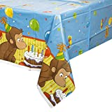Unique Curious George Plastic Tablecloth, 84-Inch X 54-Inch