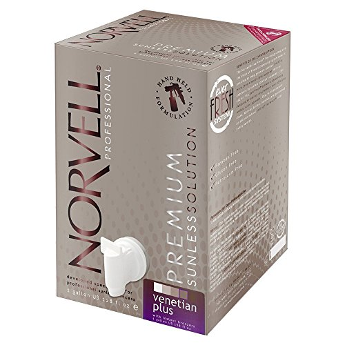 Norvell Premium Sunless Tanning Solution - Venetian Plus, Gallon/128 fl.oz. (Solution Gallon)