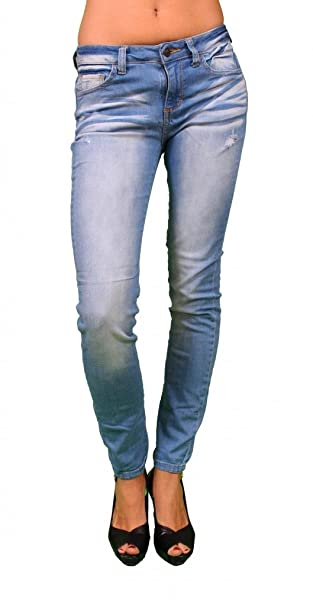 Amazon.com: Cello vaqueros mujer luz Denim Faded Jeans ...