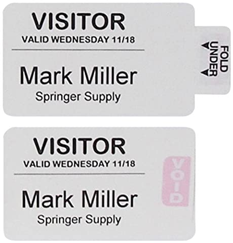 C-Line Time's Up! One-Part Self-Expiring Security Badges for Direct Thermal Printers, 2 x 4 Inches, 250 per Box - 250 Badge