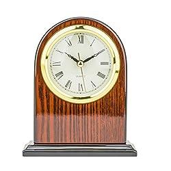 Mantel Clock 6.5 H x 5.0L x 2.0 W Quartz, Decorative Shelf Clock, Fireplace Wood Antique Vintage Clocks, Battery Operated (Battery NOT INCLUDED)