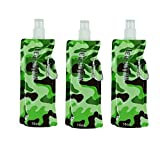 WATER BOTTLE BAG - ARMY POWER (Camouflage Green) - SET x 3 (16oz/480ml)