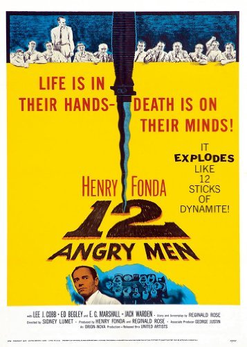 Vintage 12 Angry Men Classic Movie Film A4 Poster / Print / Picture 260GSM Satin Photo Paper by OMG Printing